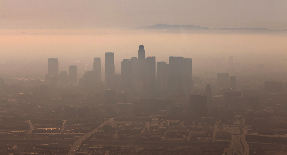 Smoggy LA Panorama by Sean McCabe