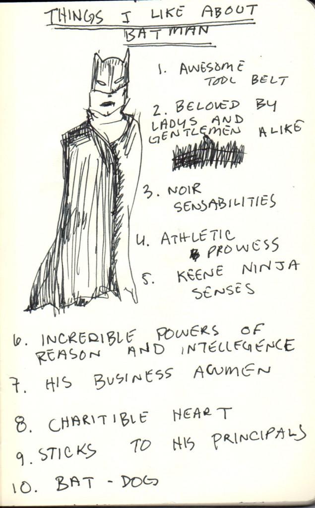 a list of the reasons I like batman