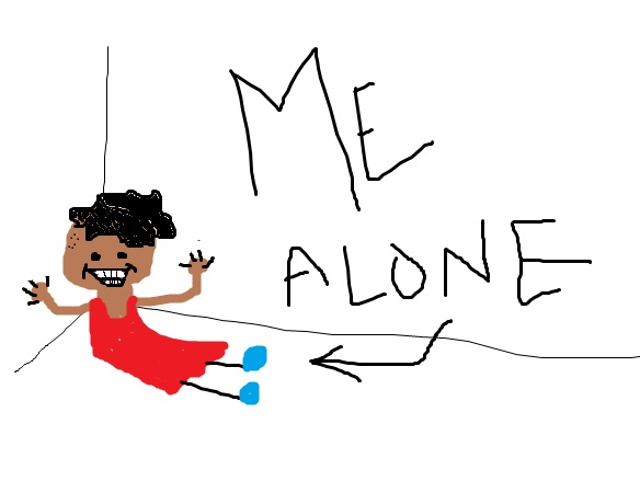 a sick drawing inspired by that -me alone- drawing from lilo and stitch except instead of being dead im smiling